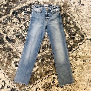 FRAME LE HIGH STRAIGHT LEG JEAN - VINTAGE WASH